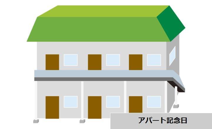 アパート記念日